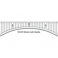 Curved Fretwork - Dentil  Mould